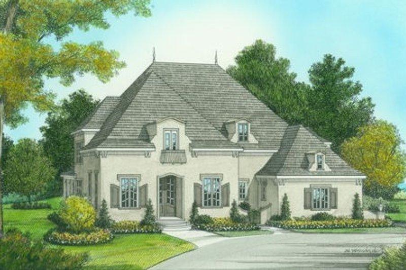 European Style House Plan - 4 Beds 5 Baths 3798 Sq/Ft Plan #413-800