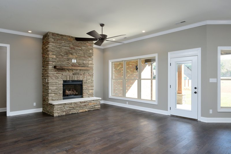 Tudor Interior - Family Room Plan #45-372 - Houseplans.com