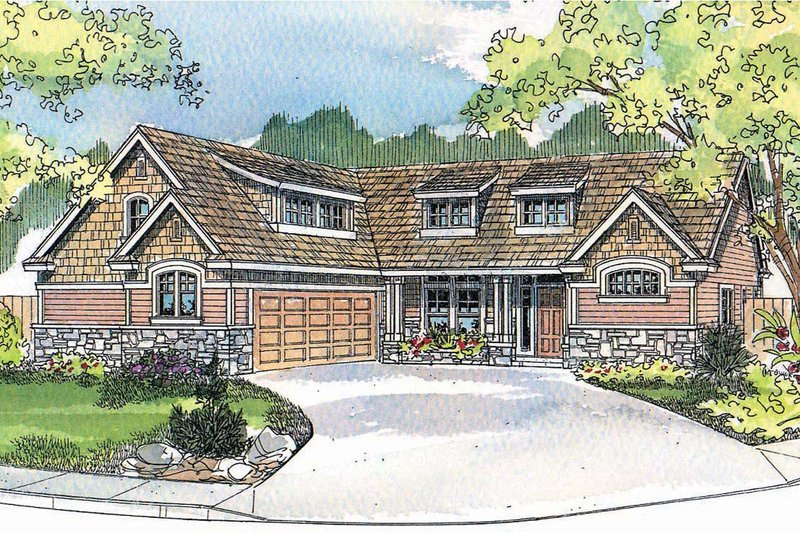 Craftsman Exterior - Front Elevation Plan #124-504