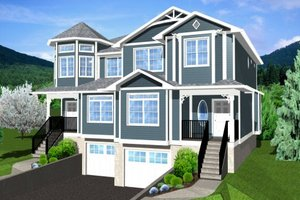 Dream House Plan - Victorian Exterior - Front Elevation Plan #126-152