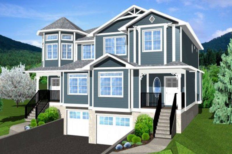 Architectural House Design - Victorian Exterior - Front Elevation Plan #126-152