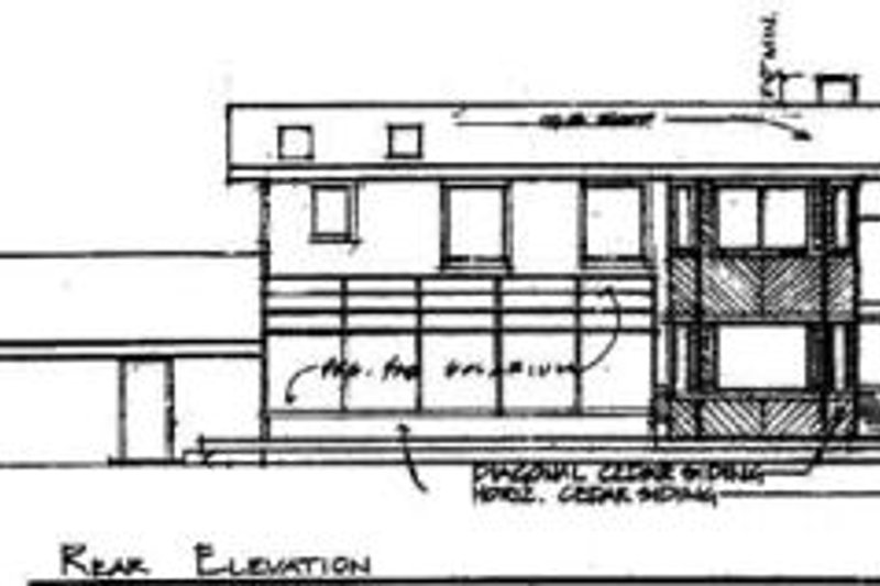 Traditional Exterior - Rear Elevation Plan #60-131 - Houseplans.com