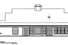 European Exterior - Rear Elevation Plan #119-243
