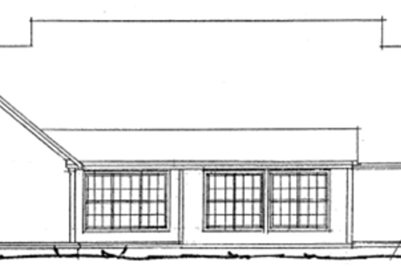 Traditional Exterior - Rear Elevation Plan #20-1363 - Houseplans.com
