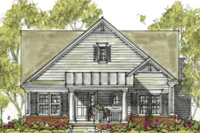 Cottage Exterior - Front Elevation Plan #20-1208