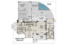 Farmhouse Floor Plan - Main Floor Plan Plan #51-1132