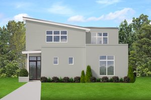 House Design - Contemporary Exterior - Front Elevation Plan #1058-207