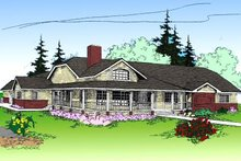 House Plan Design - Country Exterior - Front Elevation Plan #60-165