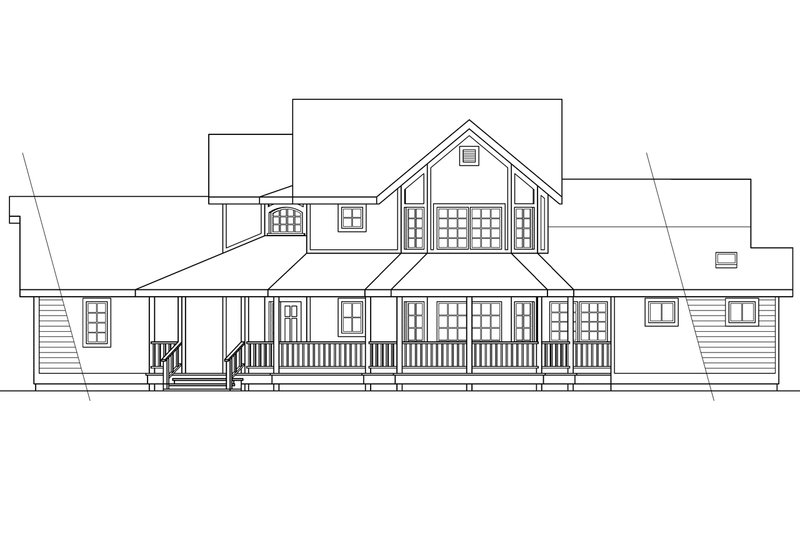 Country Exterior - Other Elevation Plan #124-173 - Houseplans.com