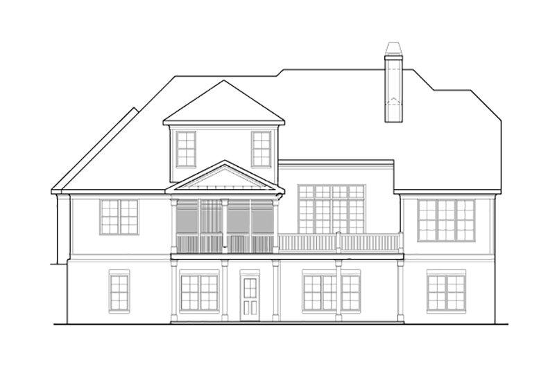 Craftsman Exterior - Rear Elevation Plan #927-2 - Houseplans.com