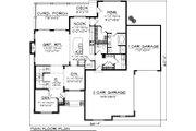 House Plan - 4 Beds 2 Baths 2493 Sq/Ft Plan #70-1104 Floor Plan - Main Floor Plan