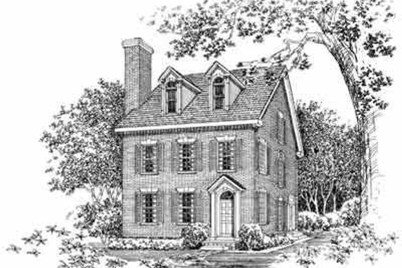 Dream House Plan - Colonial Exterior - Front Elevation Plan #72-382