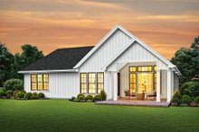 Dream House Plan - Farmhouse Exterior - Rear Elevation Plan #48-985