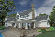 Farmhouse Style House Plan - 3 Beds 3 Baths 2396 Sq/Ft Plan #120-251 Exterior - Rear Elevation