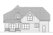 Craftsman Style House Plan - 4 Beds 3 Baths 2877 Sq/Ft Plan #413-841 Exterior - Rear Elevation