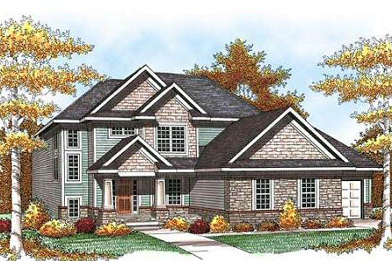 Craftsman Exterior - Front Elevation Plan #70-933