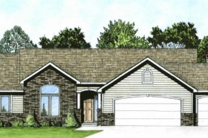 Traditional Exterior - Front Elevation Plan #58-179 - Houseplans.com