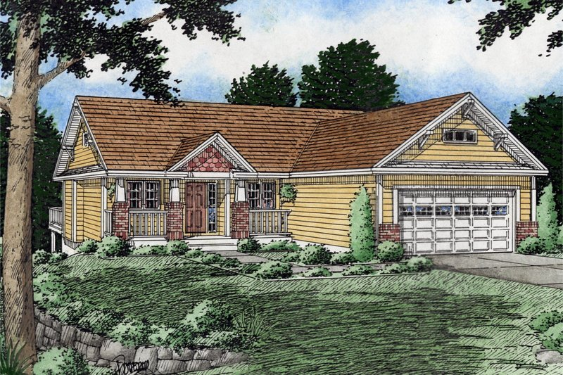 Ranch Exterior - Front Elevation Plan #126-139