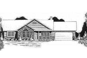 Dream House Plan - Ranch Exterior - Front Elevation Plan #58-135