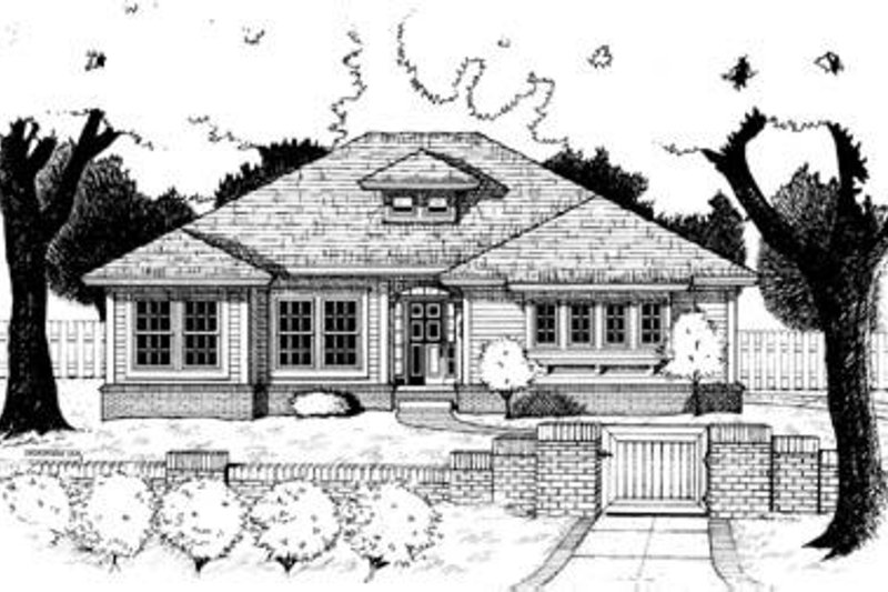 Traditional Exterior - Front Elevation Plan #20-471