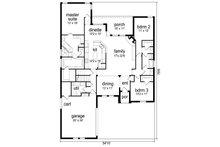 Traditional Floor Plan - Main Floor Plan Plan #84-610