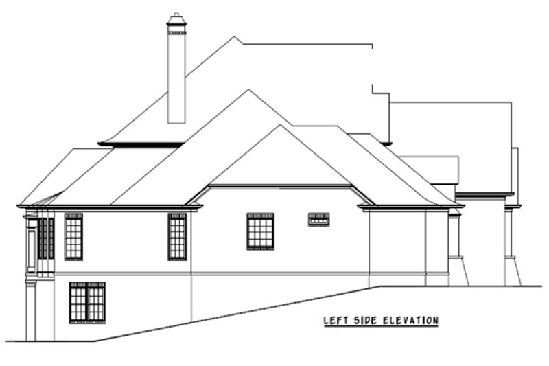 European Exterior - Other Elevation Plan #54-163 - Houseplans.com