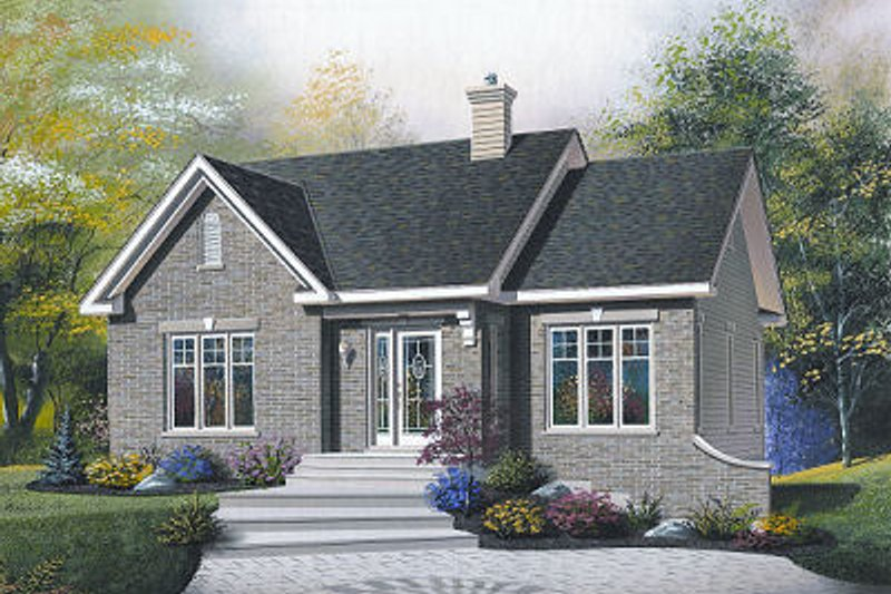 Traditional Exterior - Front Elevation Plan #23-859 - Houseplans.com