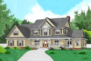 Country Exterior - Front Elevation Plan #11-224