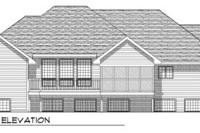 Traditional Exterior - Rear Elevation Plan #70-759 - Houseplans.com