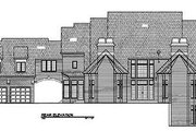 European Style House Plan - 4 Beds 4.5 Baths 4589 Sq/Ft Plan #119-242 Exterior - Rear Elevation