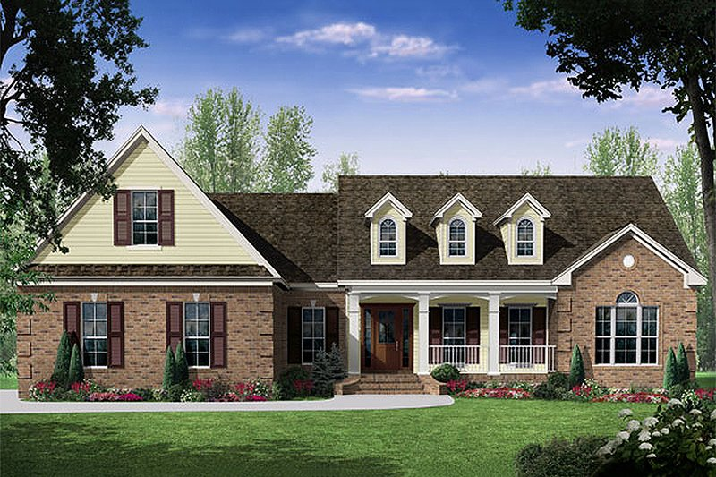 Dream House Plan - Traditional style Country Design elevation