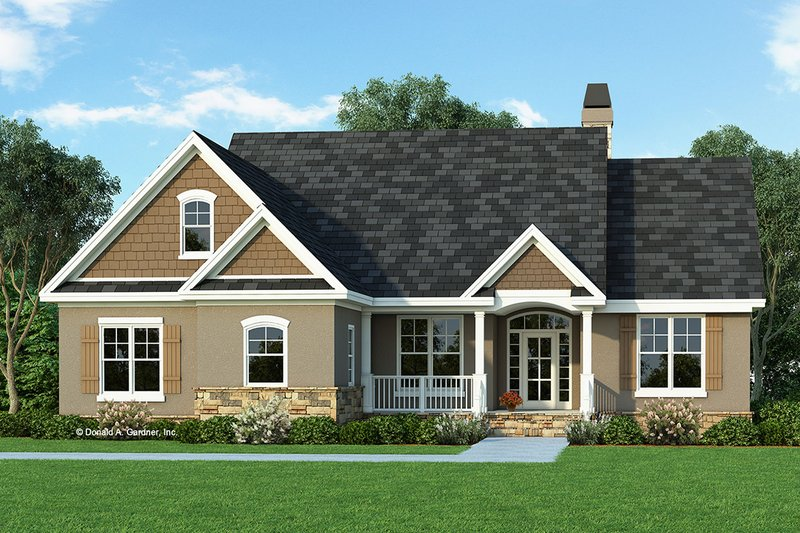 Craftsman Exterior - Front Elevation Plan #929-428 - Houseplans.com