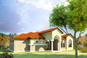 Mediterranean Style House Plan - 4 Beds 3 Baths 2541 Sq/Ft Plan #80-165 Exterior - Other Elevation