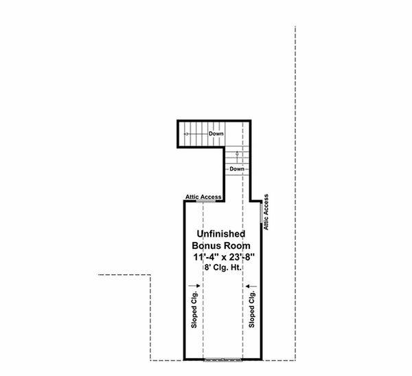 Craftsman Floor Plan - Other Floor Plan Plan #21-303
