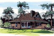 Country Style House Plan - 2 Beds 1 Baths 897 Sq/Ft Plan #312-545 Exterior - Front Elevation