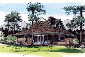 Country Exterior - Front Elevation Plan #312-545