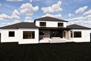 Contemporary Style House Plan - 6 Beds 5.5 Baths 6119 Sq/Ft Plan #920-72 Exterior - Rear Elevation