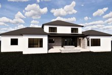 Home Plan - Contemporary Exterior - Rear Elevation Plan #920-72