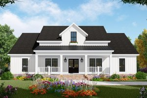Home Plan - Country Exterior - Front Elevation Plan #21-456