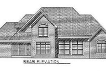 Dream House Plan - Traditional Exterior - Rear Elevation Plan #70-476