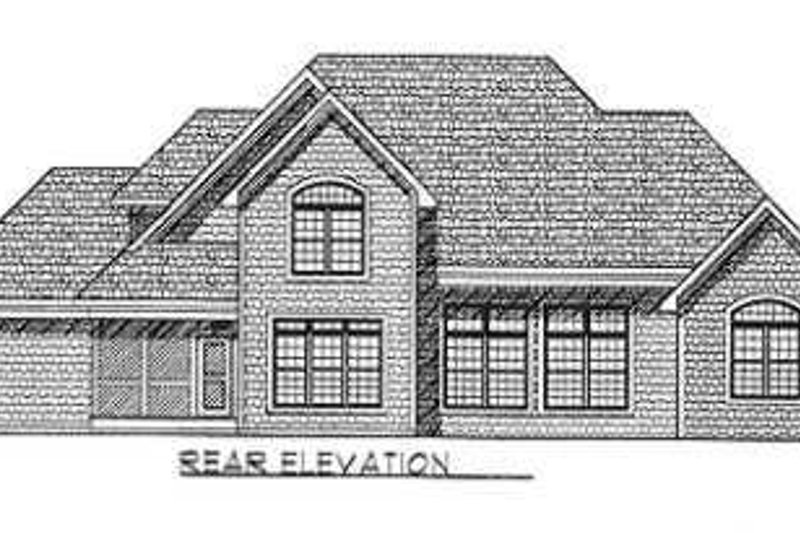 Traditional Exterior - Rear Elevation Plan #70-476 - Houseplans.com