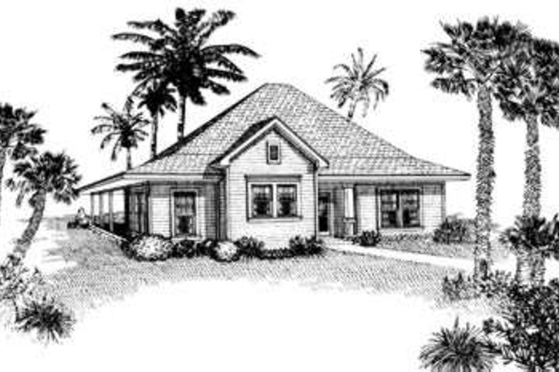 Cottage Style House Plan - 3 Beds 2 Baths 1207 Sq/Ft Plan #410-246 Exterior - Front Elevation