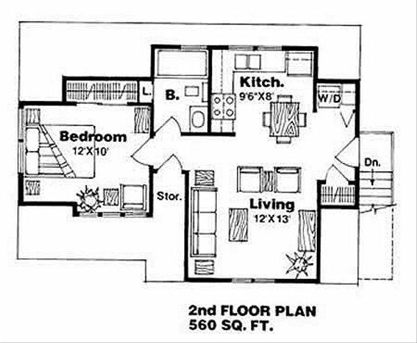 Traditional Floor Plan - Upper Floor Plan #116-131