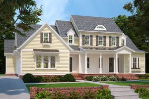 Country Exterior - Front Elevation Plan #927-982