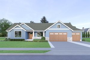 Dream House Plan - Craftsman Exterior - Front Elevation Plan #1070-54