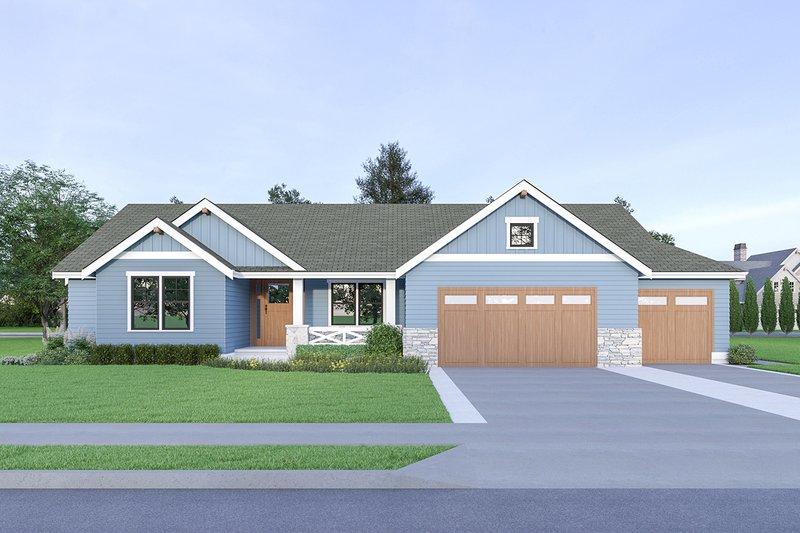Architectural House Design - Craftsman Exterior - Front Elevation Plan #1070-54