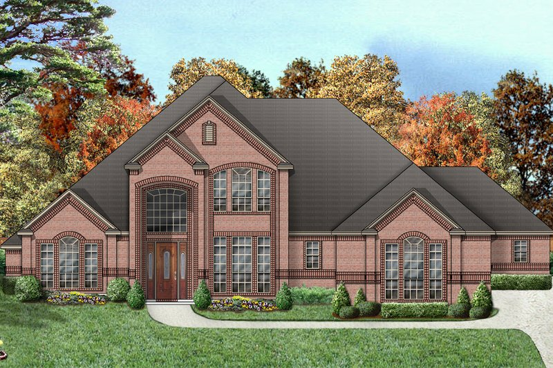 Dream House Plan - Traditional Exterior - Front Elevation Plan #84-411