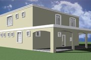 Modern Style House Plan - 3 Beds 2.5 Baths 2215 Sq/Ft Plan #495-4 Exterior - Rear Elevation