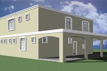 Modern Exterior - Rear Elevation Plan #495-4