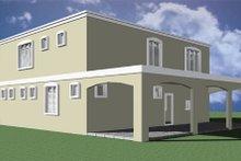 House Plan Design - Modern Exterior - Rear Elevation Plan #495-4
